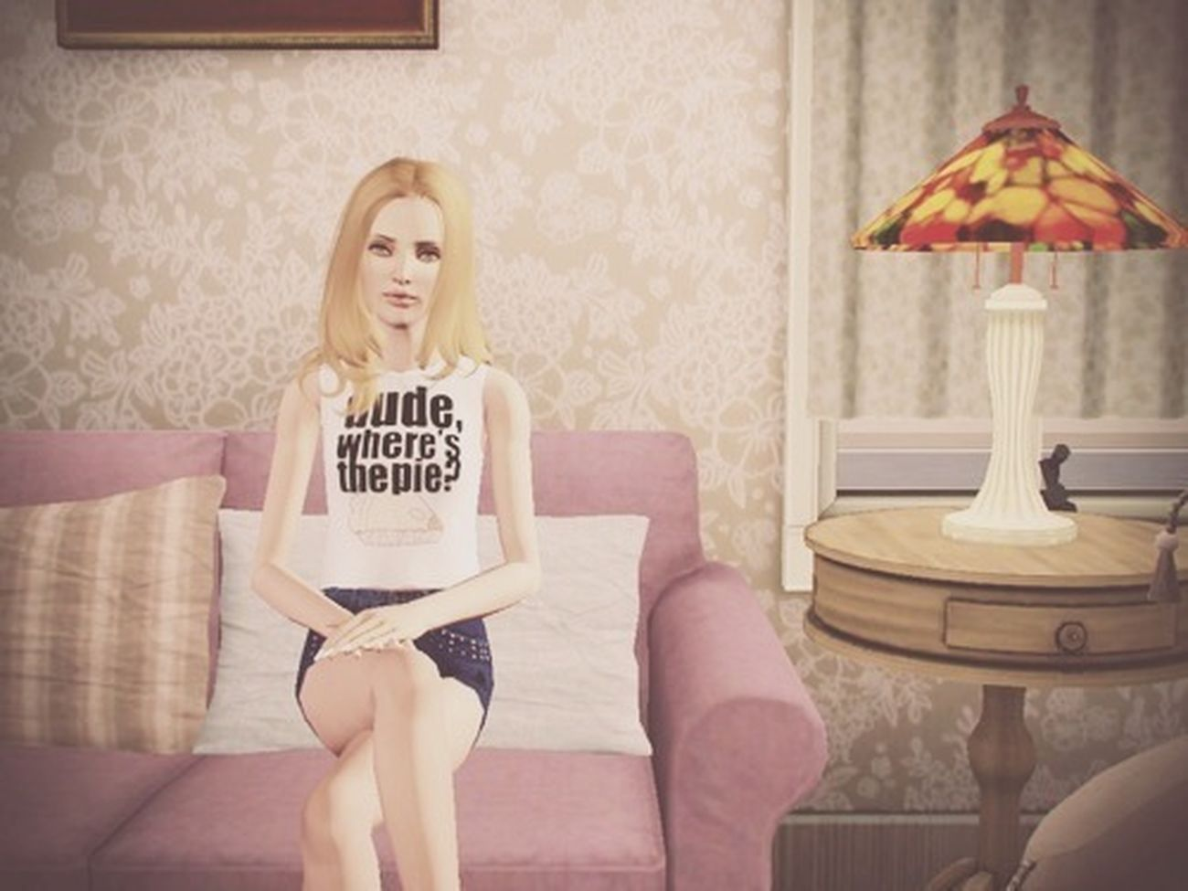 And that's how I editing her today ✌ I love the top that she wears! Simgirl  Sims