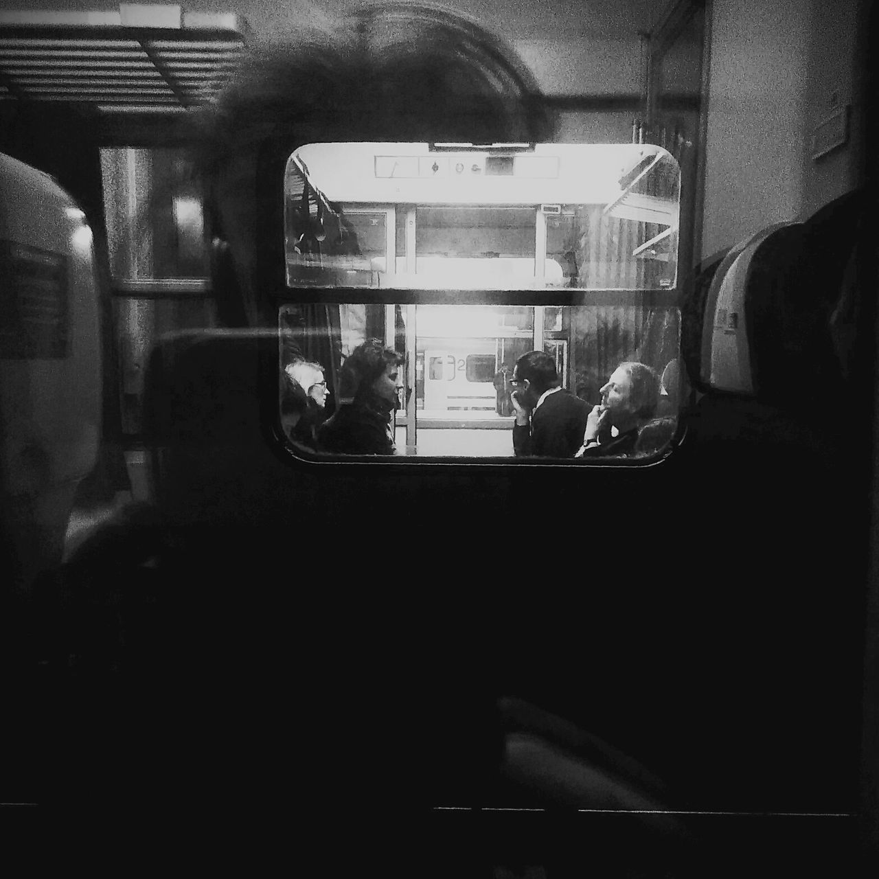 Transportation Real People Mode Of Transport Public Transportation Men Land Vehicle Journey Passenger People Close-up Day Alone Loneliness Separation Window View Isolation Train Train Station Traveling Reflection Black And White Black And White Photography Black And White Collection
