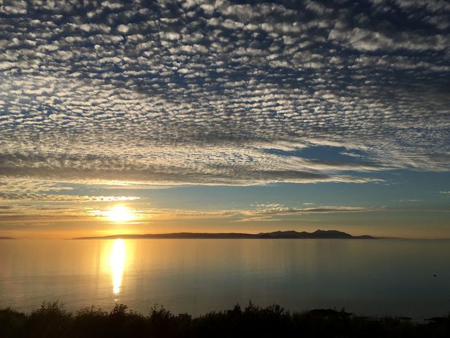 Sunset Ayrshire Ayr Firth Of Clyde Scotland Beauty In Nature Cloud - Sky Isle Of Arran
