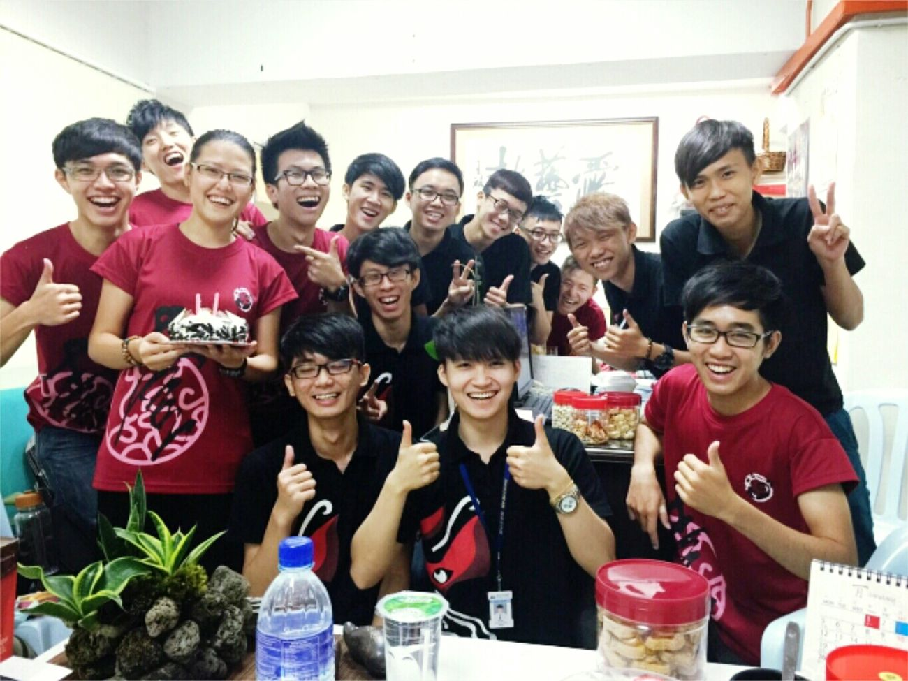 Really appreciated those celebration from my lovely drum team. Thanks guys. 😊 Birthday Cake 0803 Celebration