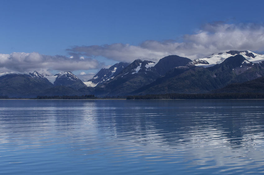 Prince William Sound A Blue Calm Cloud - Sky Day Idyllic Inside Passage Majestic Mountain Mountain Range Nature Non-urban Scene Prince William Sound, AK Reflection Scenics Seascape Snowcapped Mountain Tranquil Scene Tranquility Water Waterfront
