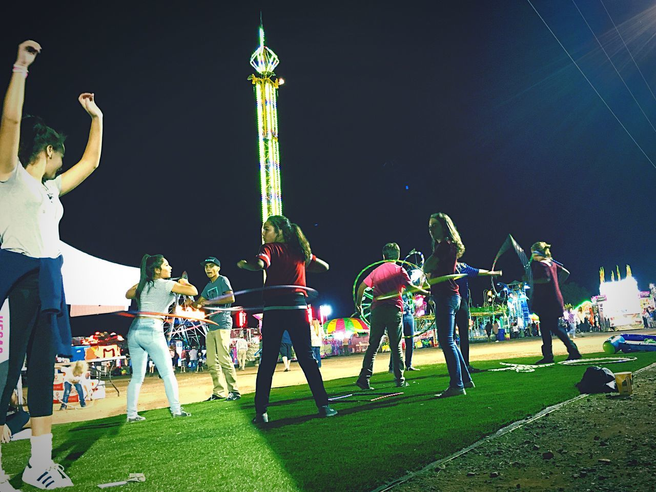 My Year My View Men Real People Grass Large Group Of People Outdoors Night Sky People Hullahoop Kids Being Kids Carnival Check This Out EyeEm Best Shots