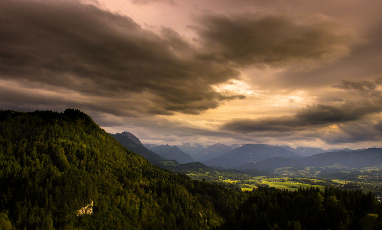 Allgäu Alps Beauty In Nature Cloud Cloud - Sky Cloudy Colorful Colors Dramatic Dramatic Sky Dramatic Sky Hill Idyllic Landscape Majestic Mountain Mountain Range Mountains Nature Non-urban Scene Outdoors Scenics Summer Tree Weather