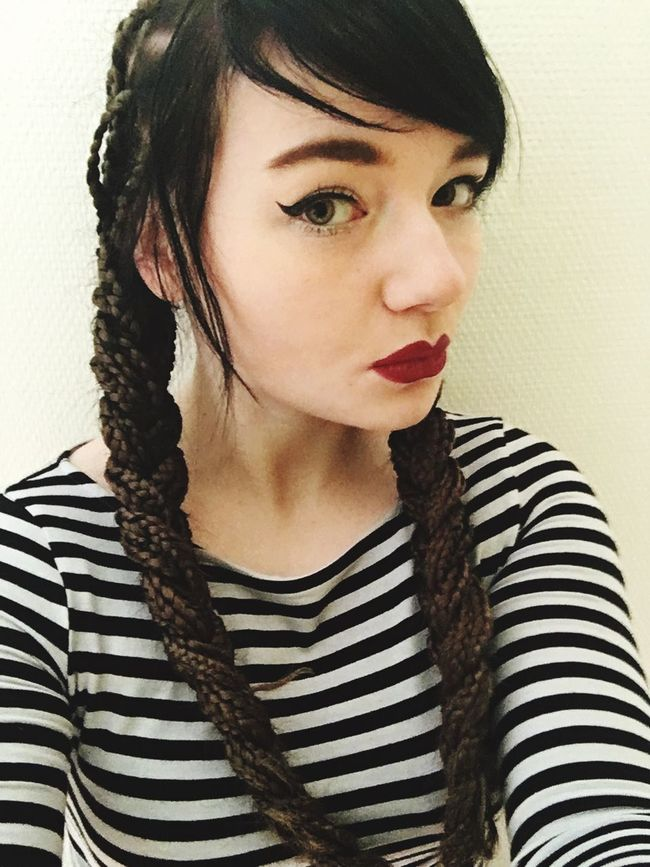 Taking Pictures Braids Red Lips Face It Today's Hot Look