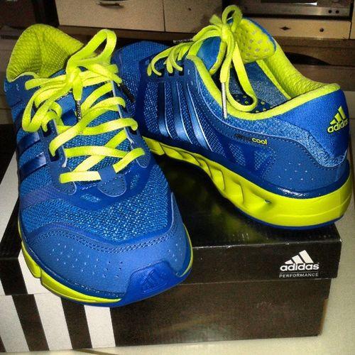 清风系列:)妈的终于舍得买了Climacool Cool Adidas New shoesblueyellow