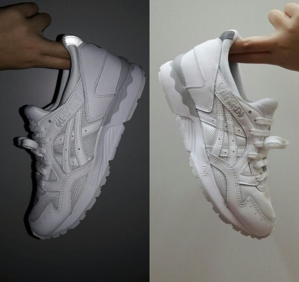 Got my new white shoes. Love ItWhite Shoes Asicsgelltye Photography
