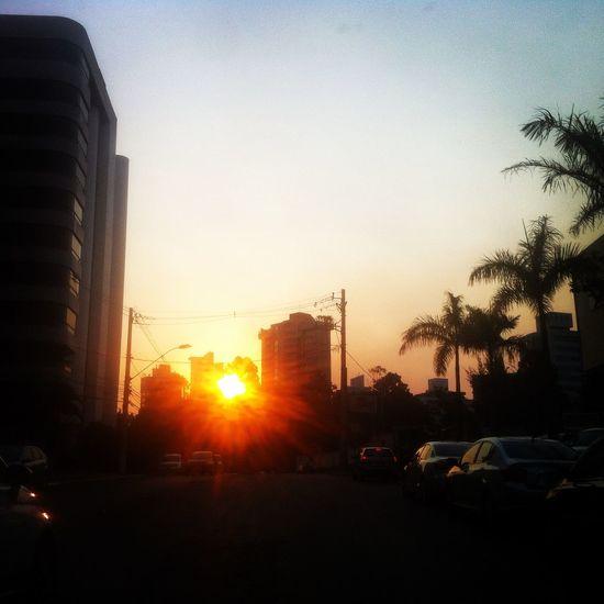 Buildings Cars Orange Color Poente Sky Sun Light Sunsset Transit