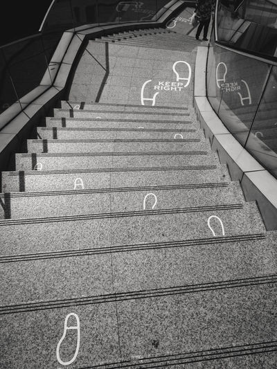 Communication Day Hand Rail High Angle View No People Outdoors Railing Staircase Steps Steps And Staircases Text