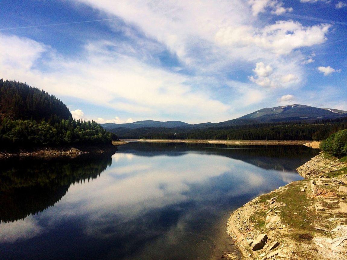 Lacul Oașa,comuna Șugag,Alba,România. Mountain Sky Water Lake Reflection Cloud - Sky Beauty In Nature Nature Landscape Like4like Likeforlike