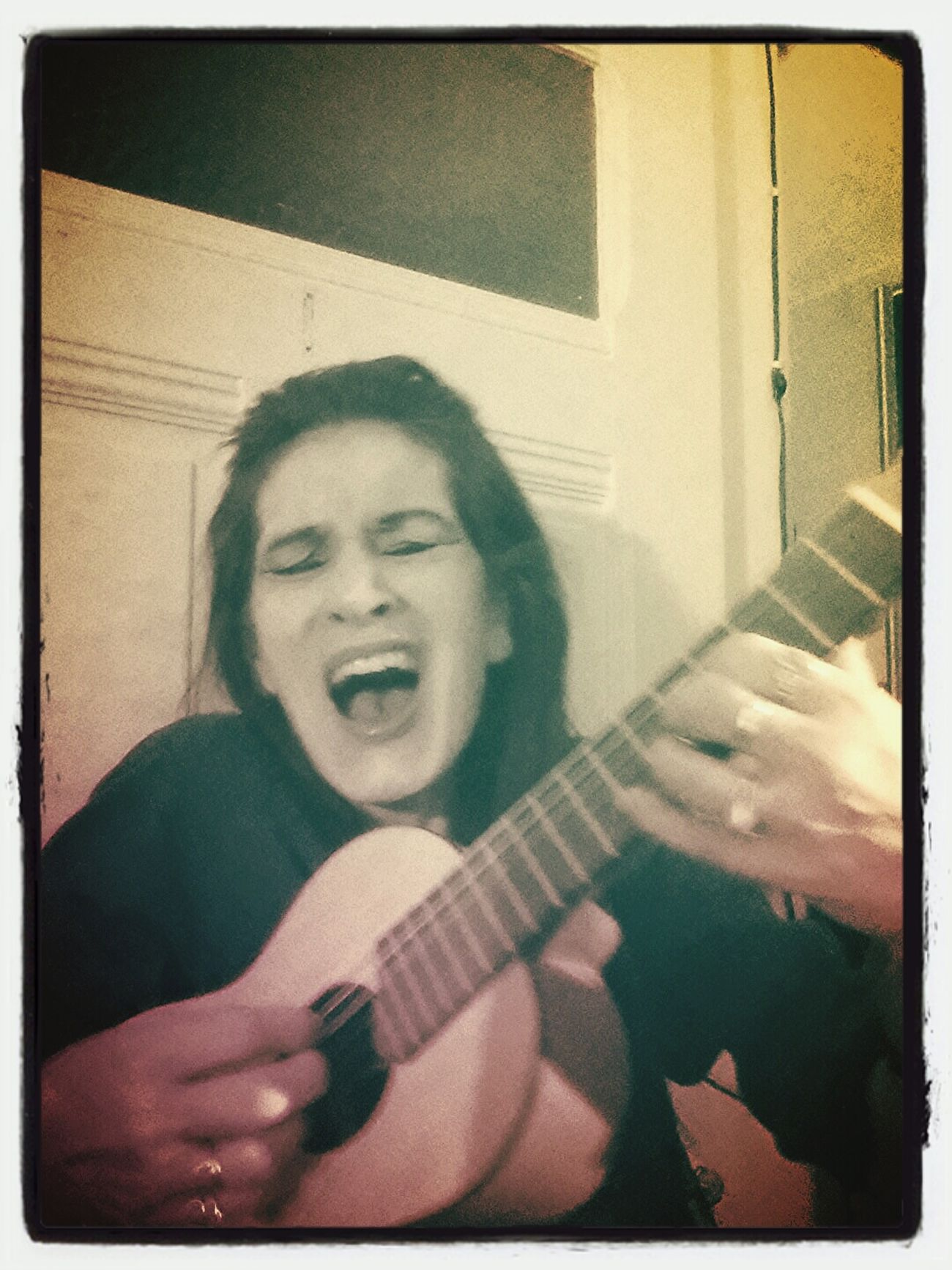 "Excercising LOVE LOVE LOVE PEACE & RESPECT...!! I Mustn't Sing But I Do & Play My Little Yamaha Guitalele...in La...then I ""forget"" All The Worse 4 A WHILE AT LEAST... PEACE & LOVE & DON'T FORGET : YOU'RE NOT ALONE!"