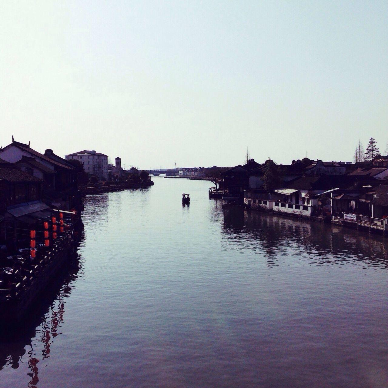Water Reflection Waterfront Clear Sky Sky Waterside Riverside Zhujiajiao Shanghai China
