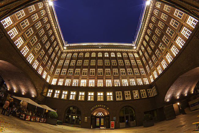 Architecture Building Built Structure Chile Haus City City Life Illuminated Innenhof , Low Angle View Night No People Patio Sky Travel Destinations Welrkulturerbe Wide-angle Wide-angle Lens World Heritage