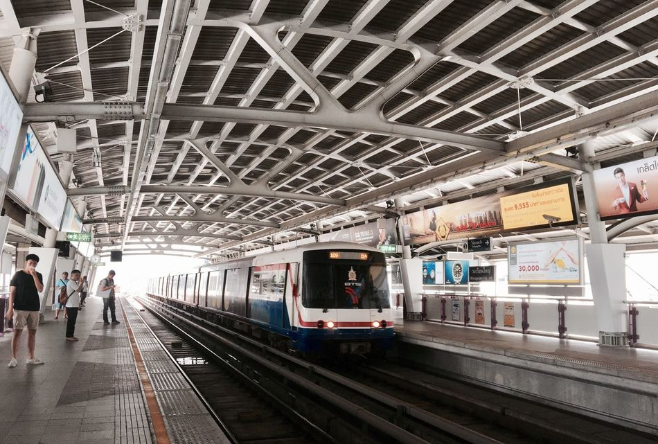 BTS @Bangkok Transportation Railroad Station Platform Travel City Life Architecture Mode Of Transport Skytrain Skytrain BTS Skytrainbangkok Bangkok Wongwianyai Btsstation Thailand