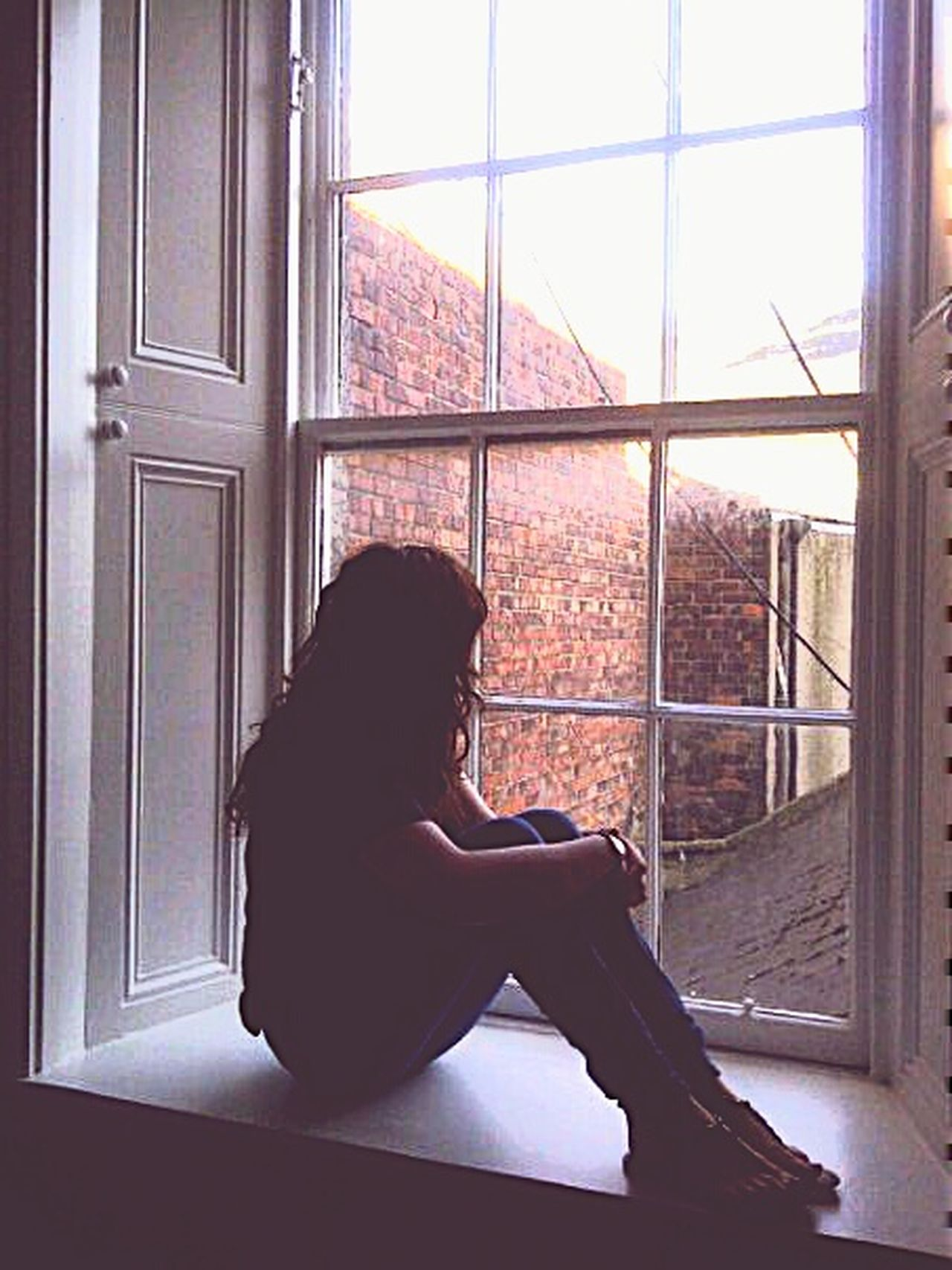 Me Window Old Building  Brick Pretty Old Phone Photo