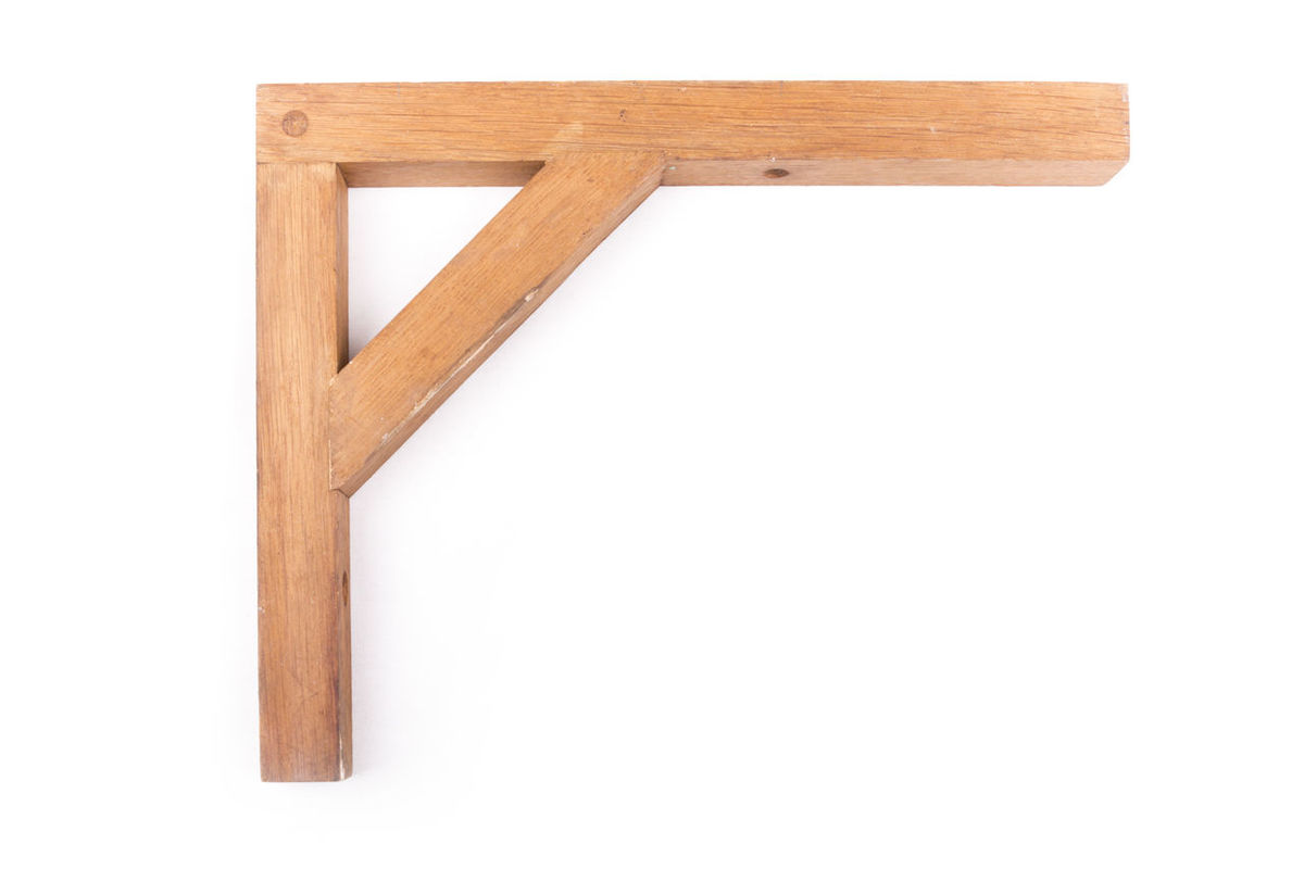 Wooden shelf bracket BOOK SHELF Brackets Corbels DIY Interior Kitchen Shelf Shelf White Background Wood - Material