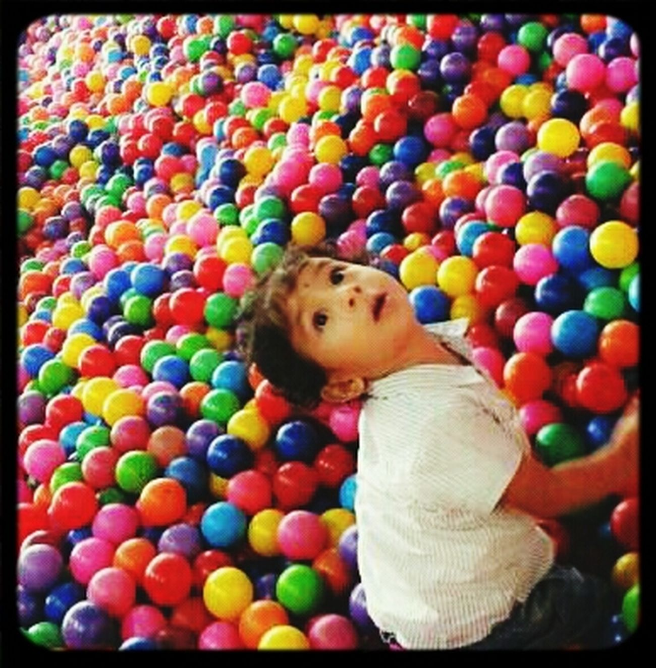 my IKAL..with colorful ball...Taking Photos Enjoying Life Holiday Children