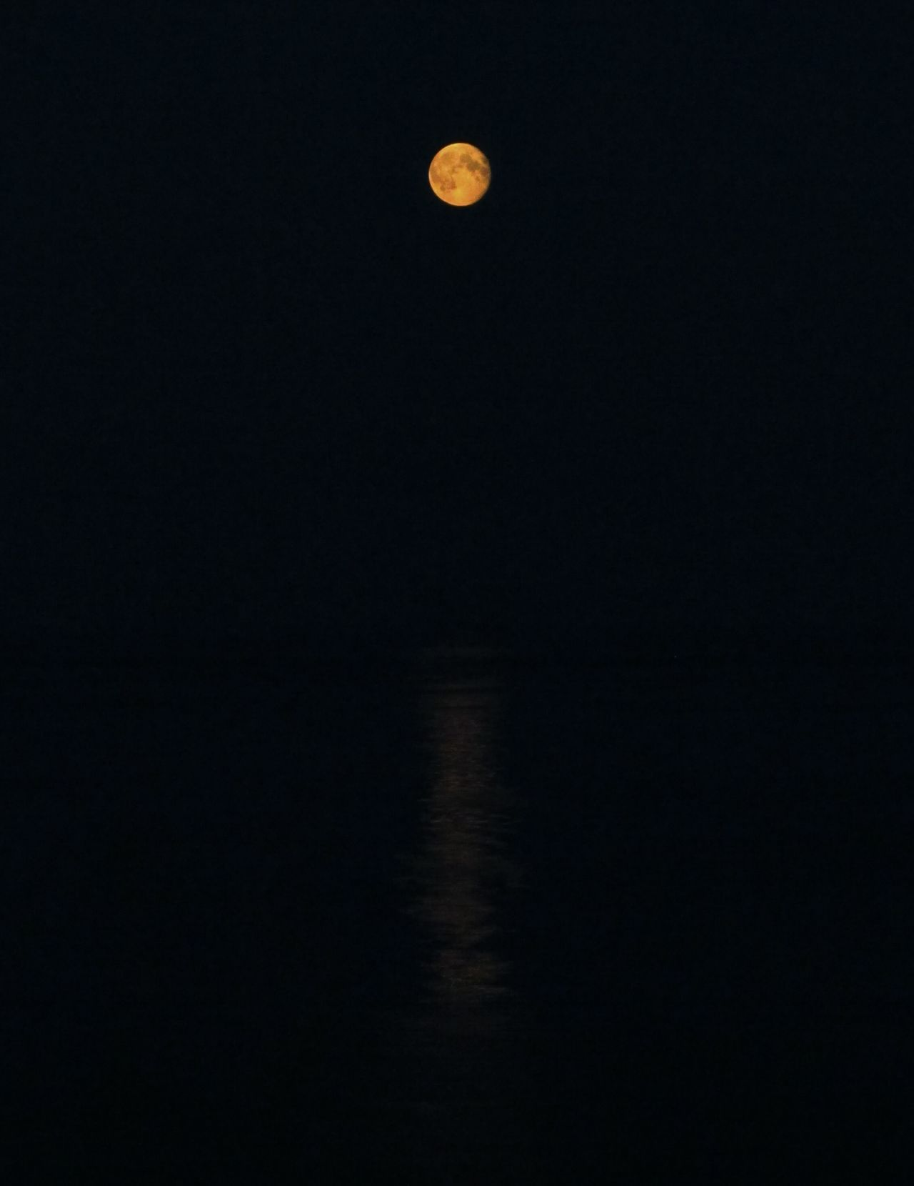 View of the low Moon over the Sea whilst crossing to Sweden on the ferry from Denmark last Night Seascape