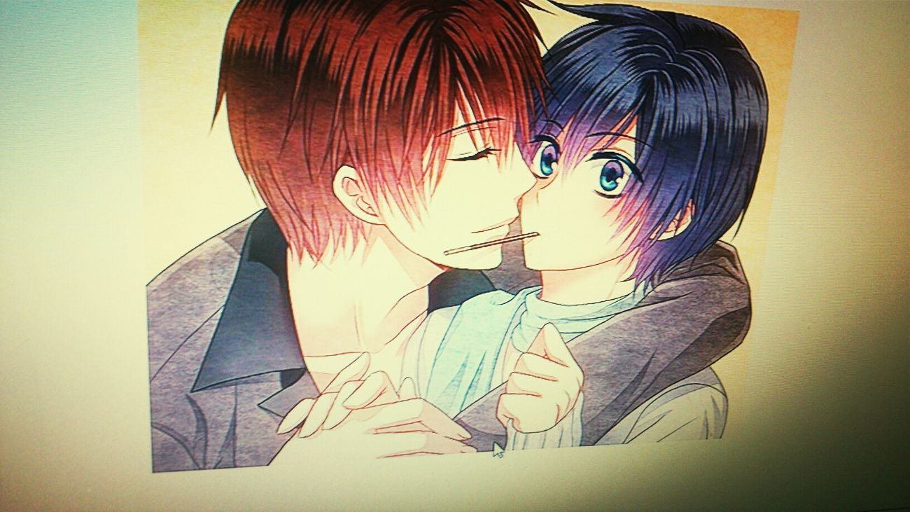 awwww yaoi n.n Photo Pockys Anime