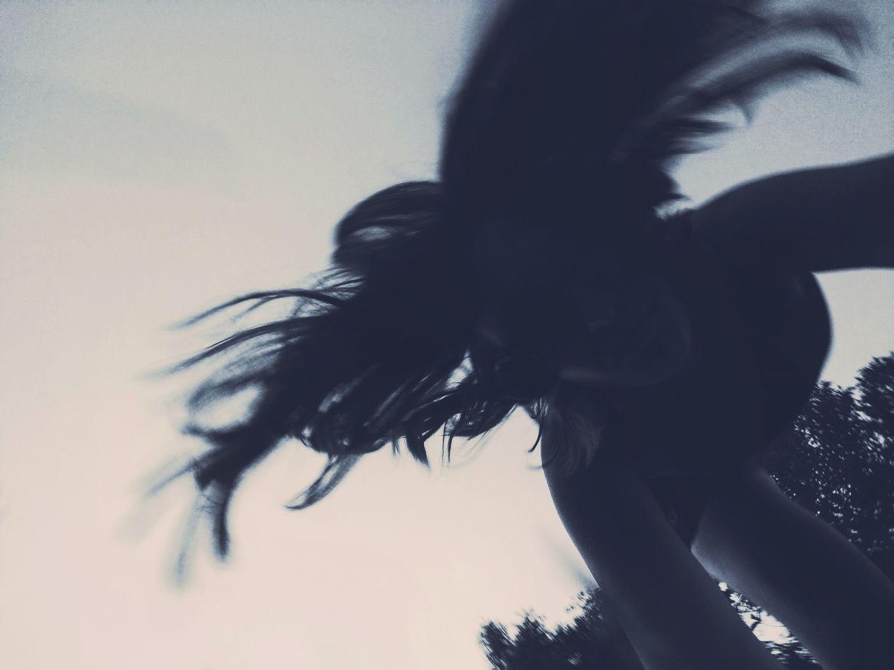 Paranormal Handstand  Cartwheel Shadow Strange Dark Sky Person Movement