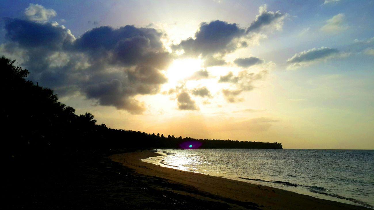 Dominican Republic Playa Rogelio Beach Beach Walk Clouds And Sky