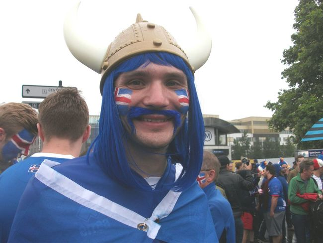 Supporters Match Football Islande France