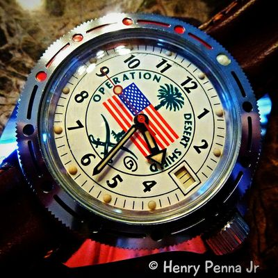 Vostok Desert Shield Watch Made In USSR Desertstorm Macro Watches Timepiece Timepieces Panasonic  Automatic Vostok Panasonic Lumix