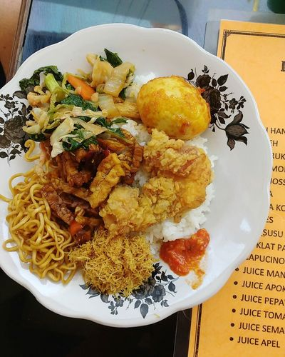 traditional Balinese lunch Nasi Campur Food Food And Drink Ready-to-eat Plate Healthy Eating Bali Indonesian Food Balinese Food Fried Noodles Top Rice Rice Dish Mixed Vegetables Fried Rice Lunch Traditional Yummy Delicious Cheap Food Food Stories