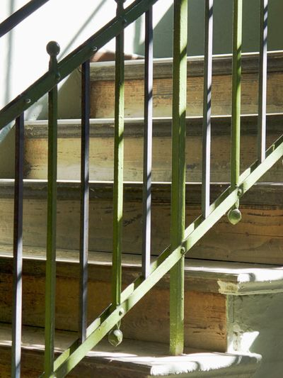 Architecture Close-up Day Indoors  Metal No People Protection Railing Safety Security Staircase The Way Up Upwards