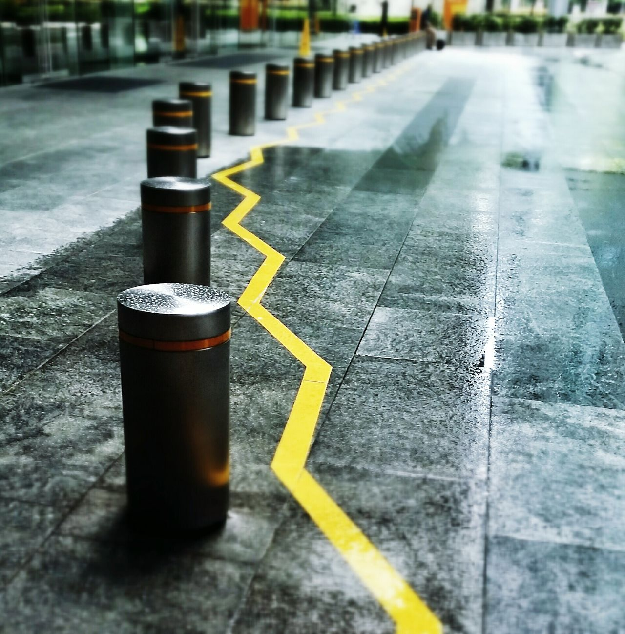 Beautiful stock photos of safety, Bollard, Day, Line, No People