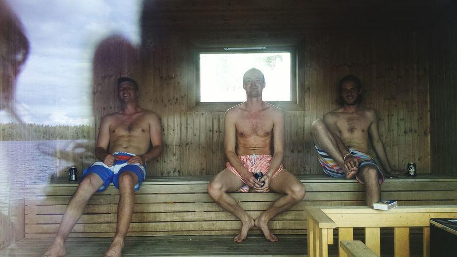Midsummer Boys Chilling In The Sauna