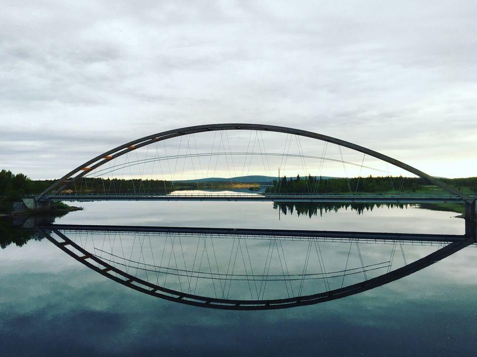 Bridges The Great Outdoors - 2016 EyeEm Awards Kiruna Sweden Sky Northen ©Liselottewajstedt Water Water Reflections