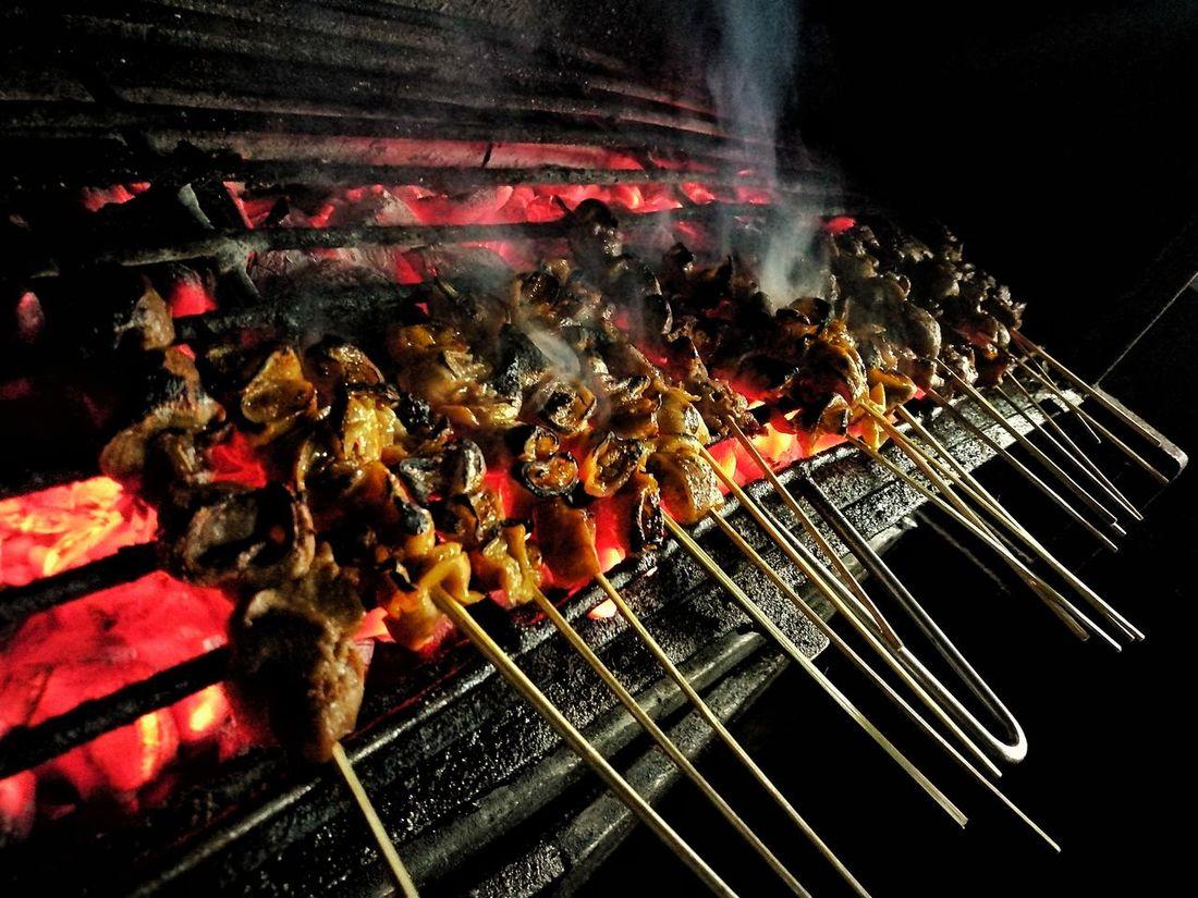 StreetFoodPH Night Heat - Temperature Close-up Flame No People Illuminated Outdoors flamingcoal