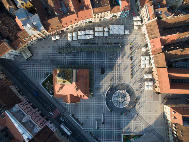 A Bird's Eye View Aerial View Amazing Architecture Built Structure City City Life Outdoors Romania