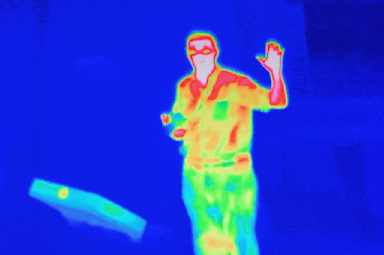 Adult Blue Canadian Science And Tecnology Museum Close-up Day Horizontal Infrared Infrared Camera Multi Colored One Man Only One Person Only Men Outdoors People Person Science Museum  Sky Technology Museum Young Adult