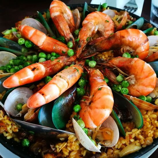Paella Paella Food Food And Drink Healthy Eating Freshness Vegetable Indoors  Seafood