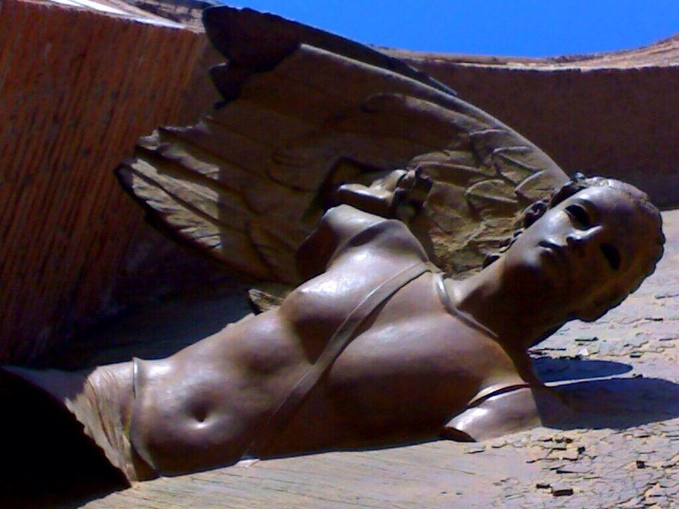 SantaMariadegliAngeli Perspective Statue In The City Artphotography Monuments Roma, Italy Sculptures Angel Wings POV Doorart