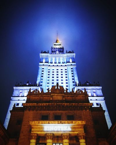 Architecture Building Exterior Night Façade Built Structure Government Tower History Travel Destinations Politics And Government Low Angle View No People City Architectural Column Outdoors Illuminated Sky Blue Color Sky And Clouds Light And Shadow