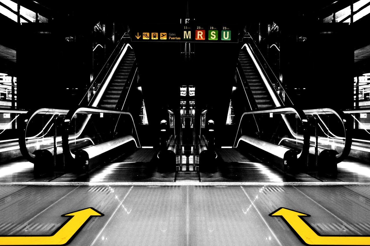 indoors, transportation, no people, gym, health club, airport, illuminated, day