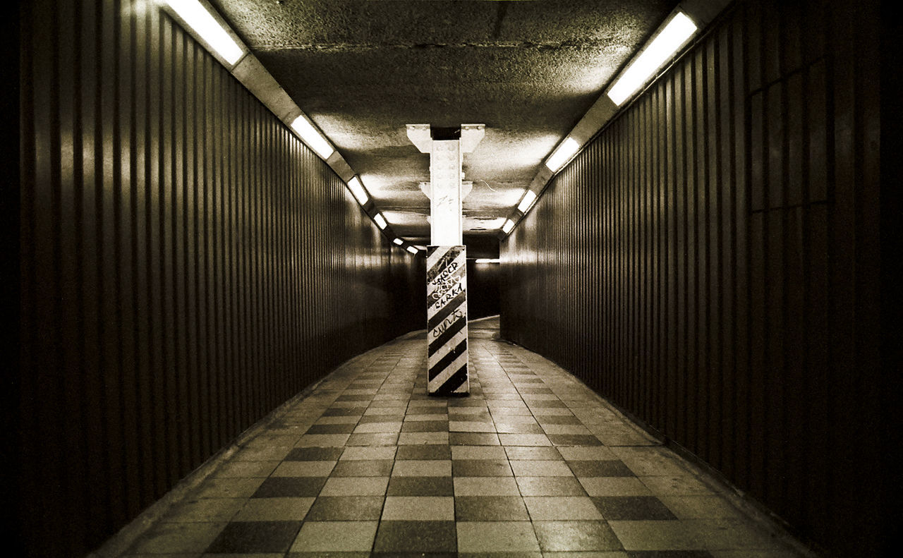 Architecture Blackandwhite Blackfriars Built Structure Corridor Diminishing Perspective Empty Illuminated Long Modern Narrow No People The Way Forward Tunnel Turkey Underpass Vanishing Point Walkway