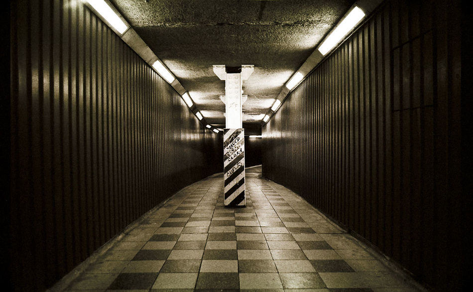 Architecture Blackandwhite Blackfriars Built Structure Corridor Diminishing Perspective Empty Illuminated Long Modern Narrow No People The Way Forward Tunnel Turkey Underpass Vanishing Point Walkway