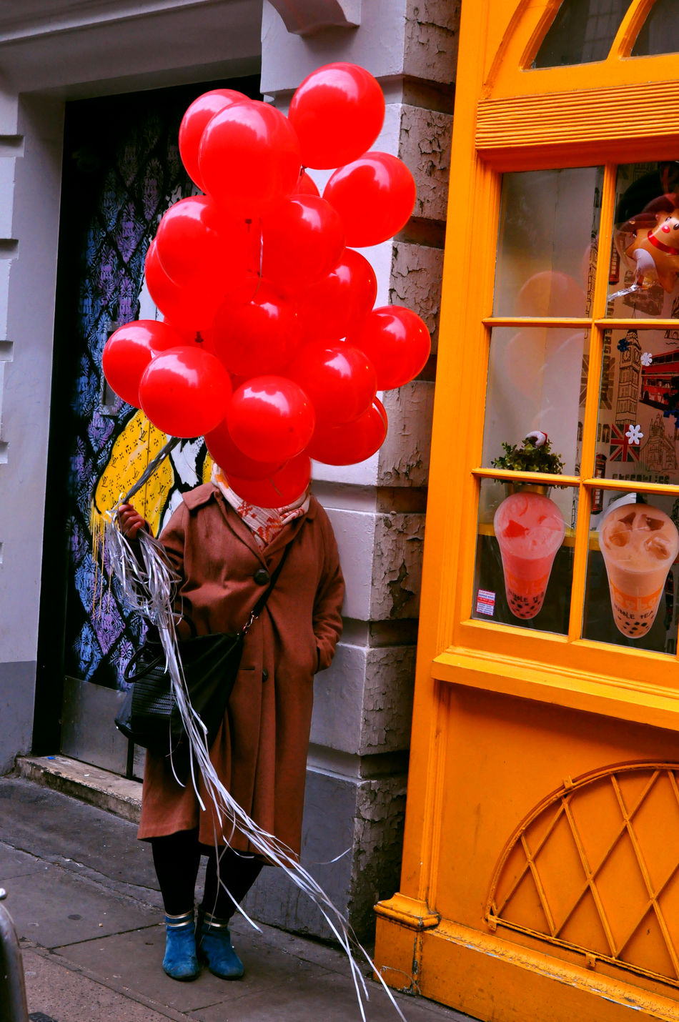 Moor Street, Soho Balloon Balloons Balloons🎈 Color Colour Day Event Freshness Fun Funny London Red Red Street Urban
