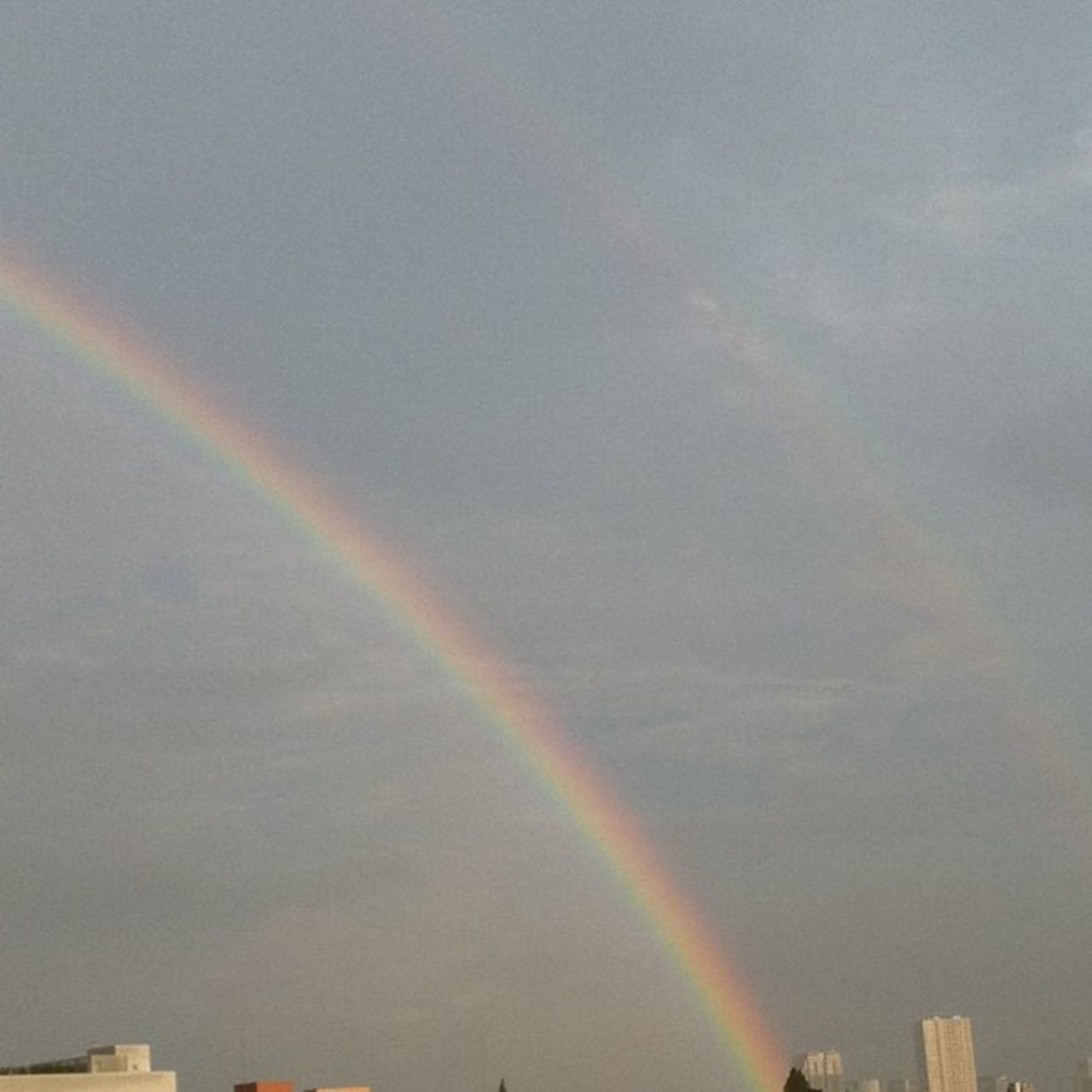 rainbow, double rainbow, multi colored, no people, scenics, spectrum, outdoors, day, sky, refraction, nature, beauty in nature