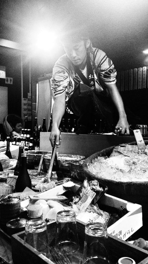 Robatayaki Japanese Chef Singapore Black & White
