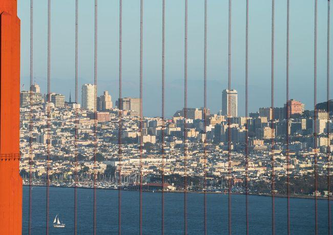 San Francisco USAtrip USA Suspension Bridge Golden Gate Bridge Architecture Close-up Cityscape Red Bridge Artistic