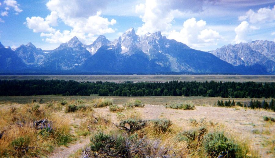 Tetons Wyoming Mountain Mountains Tranquil Scene Nature