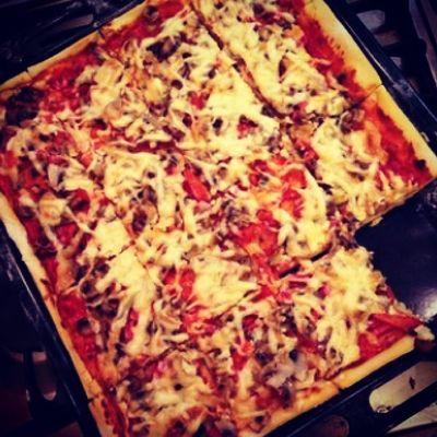 пицца домашняя вкуснятина готовимдома ночнойдожор??
