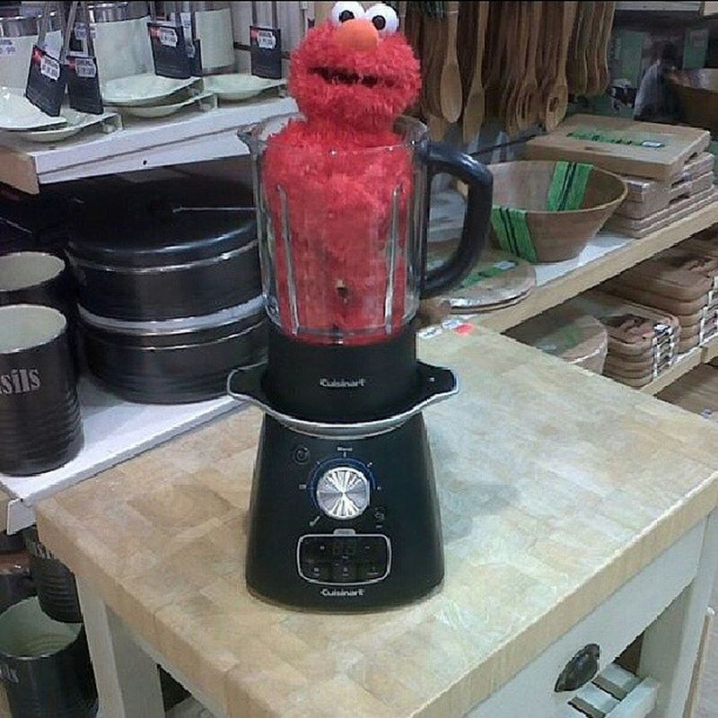 I suggest you double tap and like this picture, otherwise Mr Elmo here becomes Elmo Soup.... bored at work lol Work Elmo Soup SoupMaker Bored Boredatwork Hostage Toy Fun