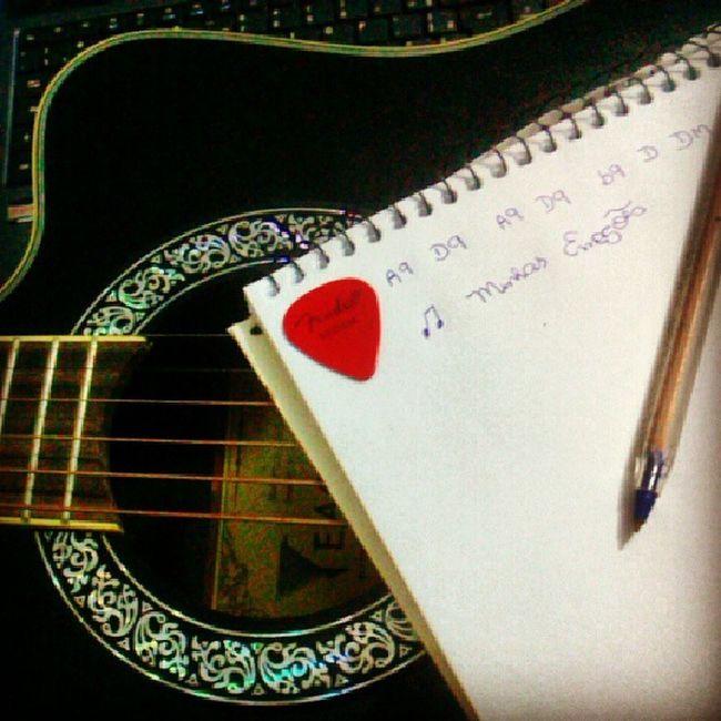 E aí, pois é, sei lá ? Amô Violão Fender Escrever meujeito happy emoções Love Music musica letra Life