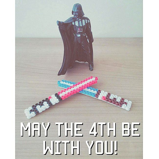 May the 4th be with you! Happy Star Wars Day! Here comes the Lord Vader and my handmade pixel art lightsabers :) MayThe4thBeWithYou Starwars Starwarsday Darthvader Anakin Pixelart Lightsaber Handmade Actionfigures Collectibles Swag Geeklife Geek Art Jedi Sith