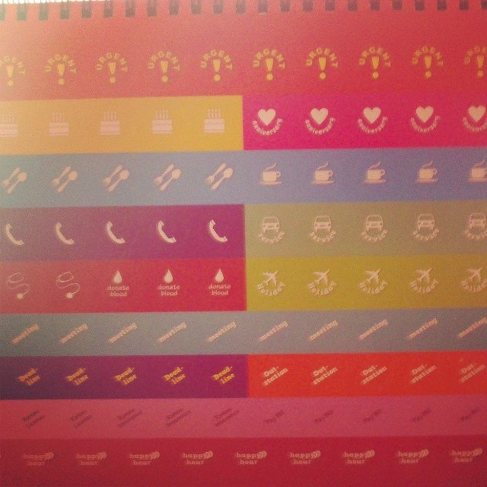 Cute calender sticker from ccm :-D Morning Nothingtodo Calender2014 CCM bored